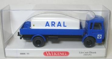 """Neu /""""Aral/"""" Wiking 080899-1//87 Lkw Mit Öltank Man"""
