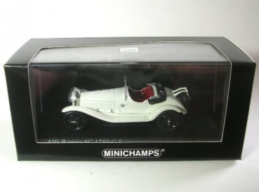 Alfa Romeo 6C 1750 G.S 1930 White 1:43 Model MINICHAMPS
