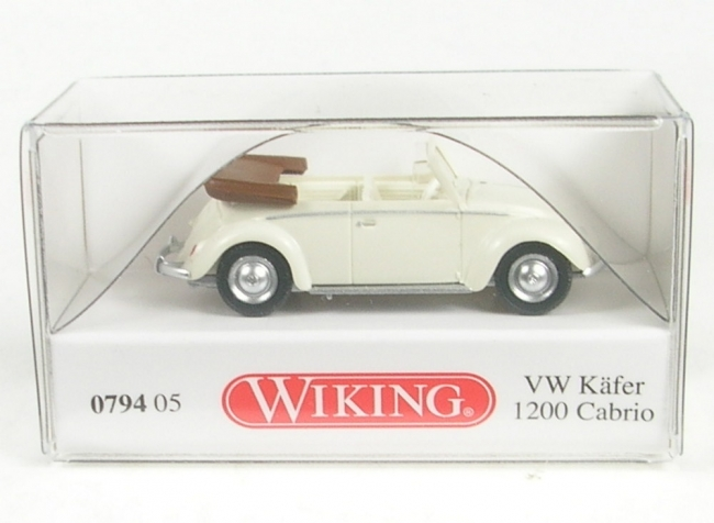 VW Käfer 1200 Cabrio (perlweiss) 1961-1963  1:87 Wiking