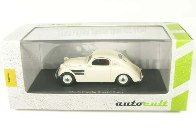 Skoda Popular Special Sport  cream (Czech Republic - 1934)  1:43 AutoCult