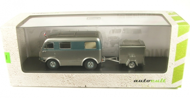 Tatra T805 H + Z with trailer (silver/blue) CZ 1953  1:43 AutoCult