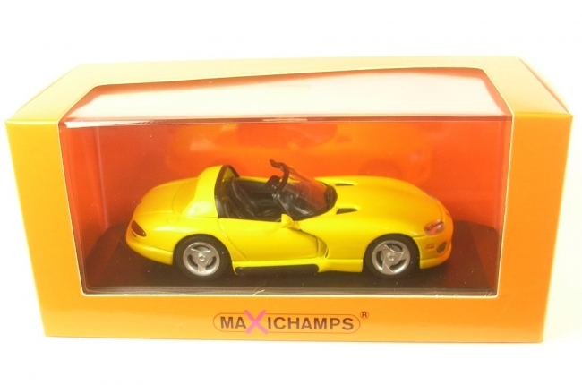 Dodge Viper Roadster (gelb) 1993  - 1:43 Maxichamps