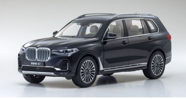BMW X7 (carbon black) 2019 1:18 Kyosho