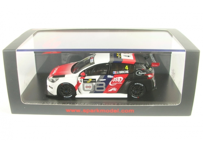 Peugeot 308 No.4  1st TCR Europe Race 2 Spa-Francorchamps 2018 (Julien Briche) 1:43