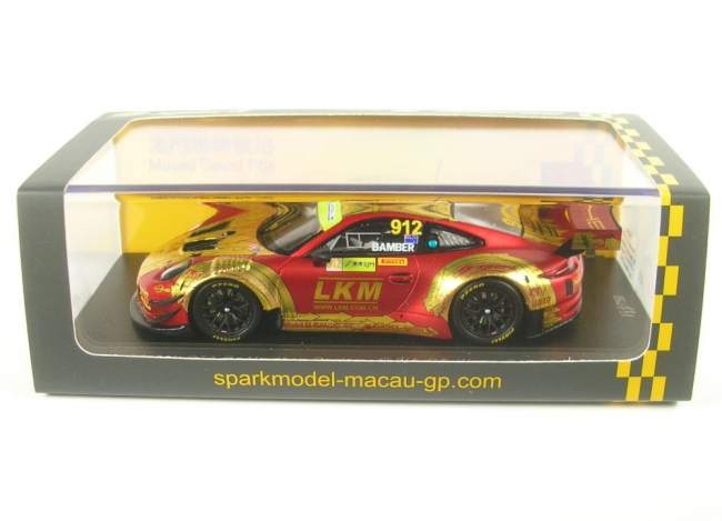 Porsche 911 GT3 R No.912 Manthey-Racing - 4th FIA GT World Cup Macau 2018 (Earl Bamber) 1:43