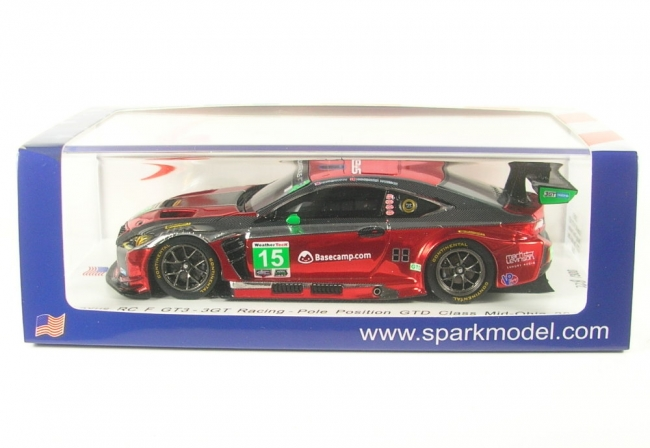 Lexus RC F GT3 No.15  Pole Position GTD Class Mid-Ohio 2018 (J. Hawksworth - D. Heinemeier Hansson) 1:43